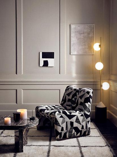 SOHO HOME Lovett Chair, Berber, Black and White Geo