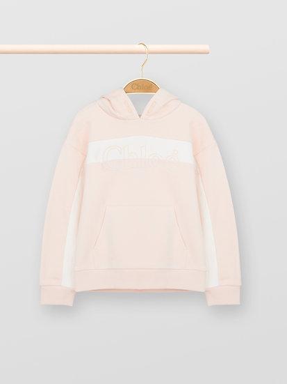 CHLOÉ Chloé hoodie Girl's' Pale Pink Size 4
