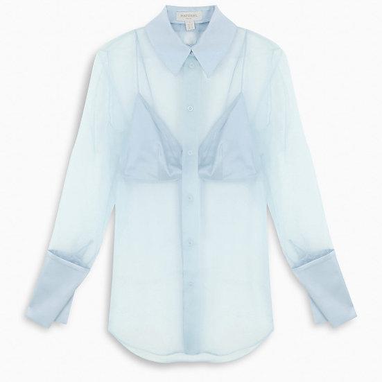 MATÉRIEL Light-blue silk blouse