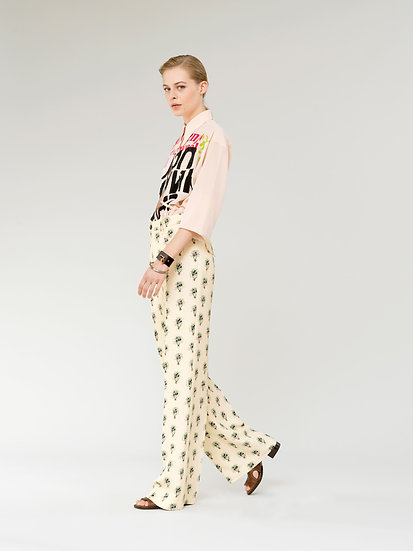 CHLOÉ Flared Printed Trousers