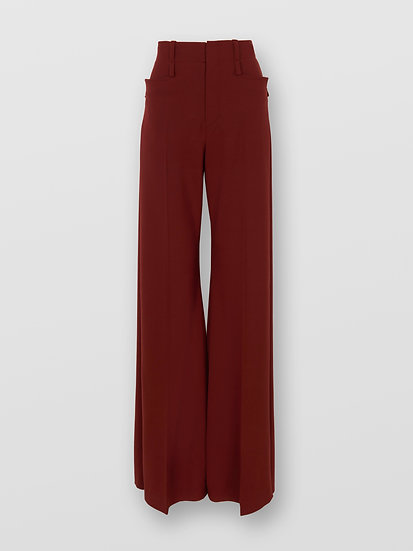 CHLOÉ  High-rise Flared Trousers Wool