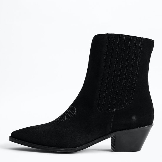 ZADIG + VOLTAIRE Black Ankle Boots