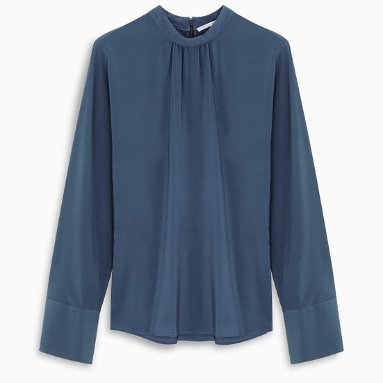 STELLA McCARTNEY Blue Lagoon Silk Blouse