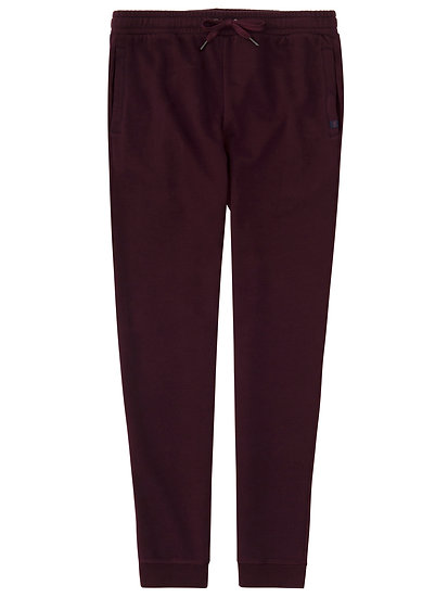 DEREK ROSE Men's Sweatpants Devon 2 Loopback Cotton Burgundy