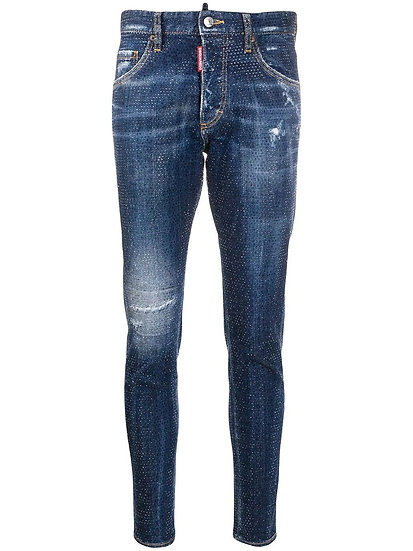 DSQUARED2 Rhinestone Embellished Skinny Jeans