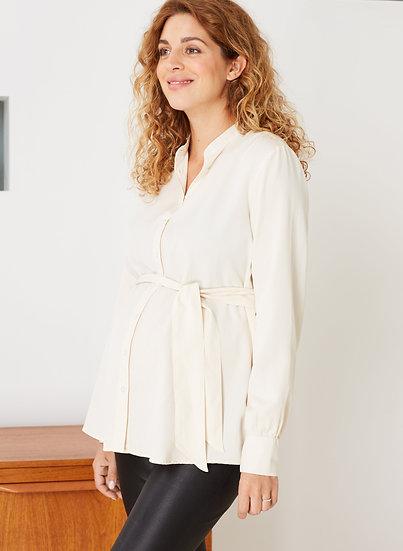 ISABELLA OLIVER Ondine Maternity Shirt-Cream