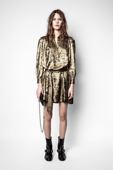 ZADIG & VOLTAIRE Gold Dress