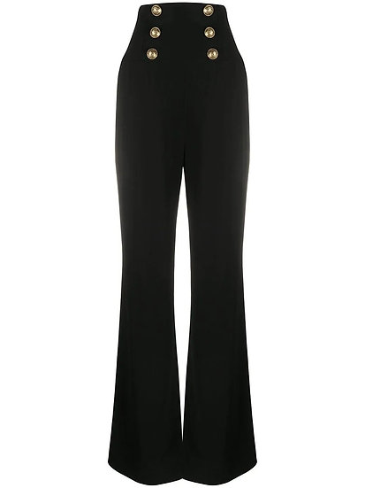 BALMAIN High Waisted Women Formal Trousers