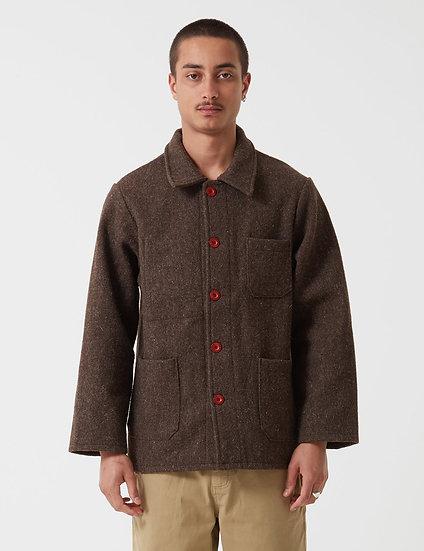 Le Laboureur Men Wool Work Brown Jacket