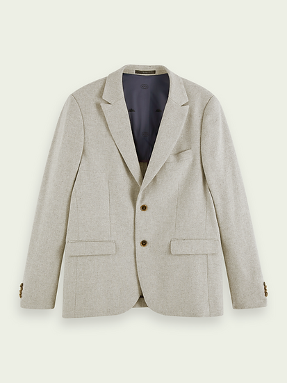 SCOTCH & SODA Men Classic single-breasted wool-blend blazer