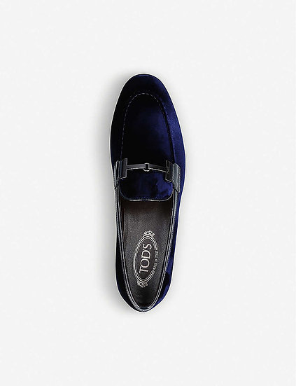 TODS Velvet Loafers at Selfridges