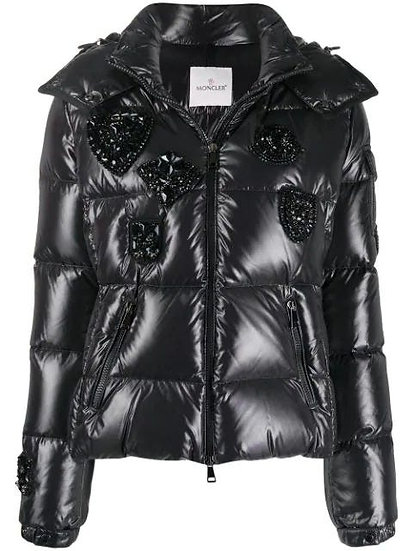 MONCLER Embellished-patch Padded Jacket
