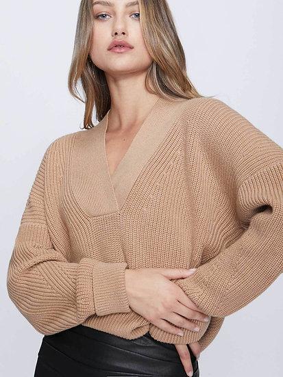BROCHU WALKER The Gene V Neck Sweater