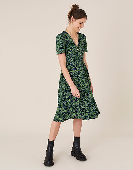 MONSOON Printed Wrap Dress