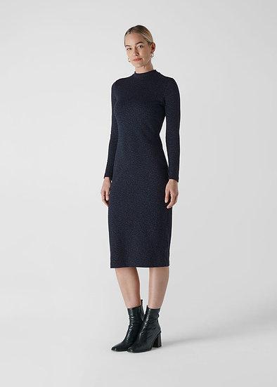 WHISTLES Animal Jersey Print Dress