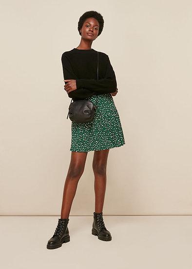WHISTLES Green Print Skirt