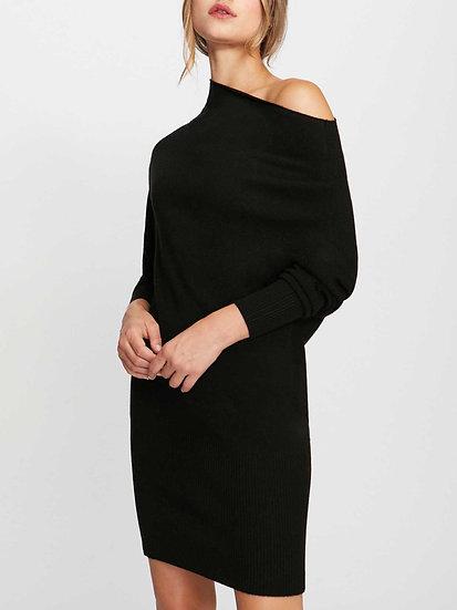 BROCHU WALKER Cashmere Black Dress