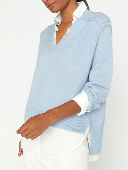 BROCHU WALKER The Looker Wool & Cashmere V Neck Jumper