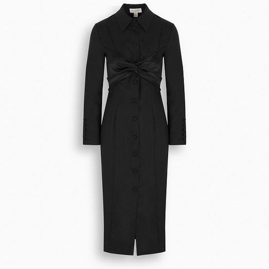 MATÉRIEL Black Button Down Dress