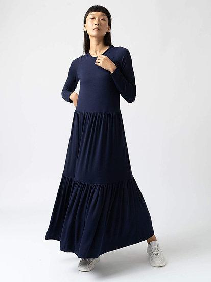 SAINT + SOFIA Navy Maxi Dress