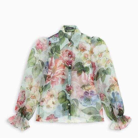 Dolce & Gabbana Sheer floral shirt