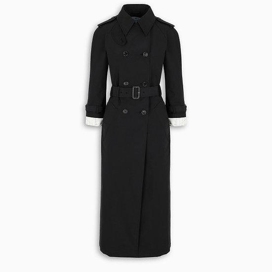PRADA Black Belted Classic Trench Coat