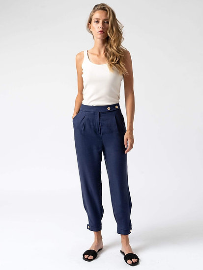 SAINT + SOFIA Classic Cropped Trousers