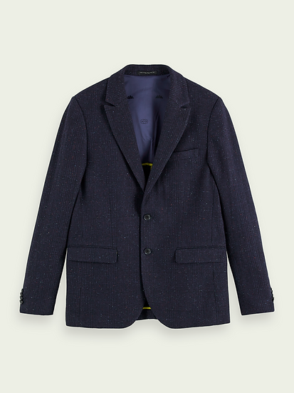 SCOTCH & SODA Men Classic single-breasted wool-blend blazer