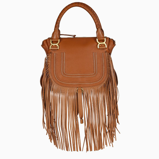 CHLOE  Tan fringed bag