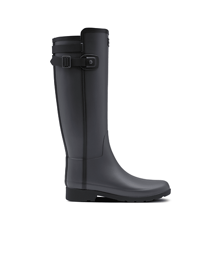 HUNTER UK ROW Women's Refined Slim Fit Contrast Tall Wellington Boots