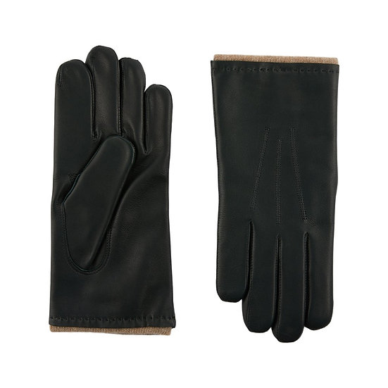 JERRY SAVED Leather & Cashmere Lining Gloves
