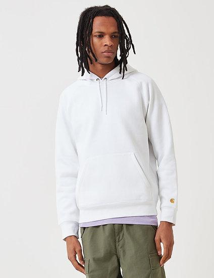 Carhartt-WIP Men  Hooded White Sweatshirt