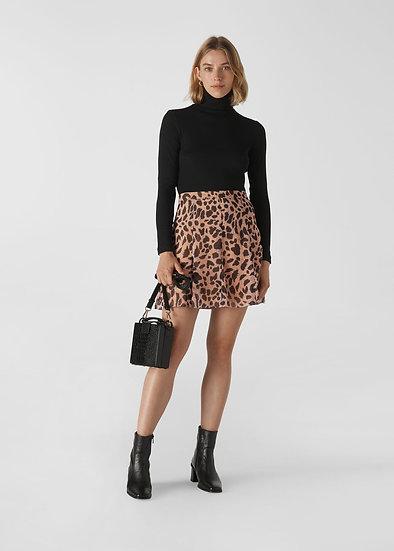 WHISTLES Leopard Print Mini Skirt