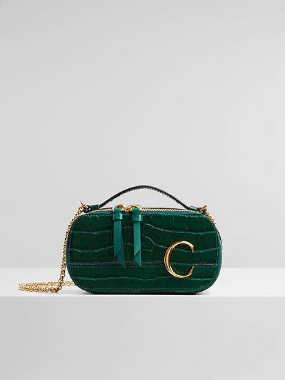 CHLOÉ Chloé C mini vanity bag Woodsy Green