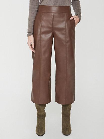 BROCHU WALKER Vegan Leather Cropped Trousers