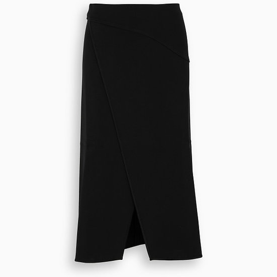 GIVENCHY Black Short Wrap Skirt