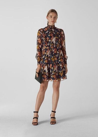 WHISTLES Floral Silk Dress