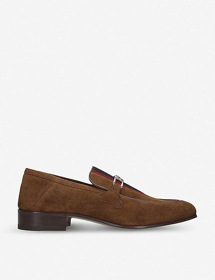 GUCCI Suede Loafers at Selfridges