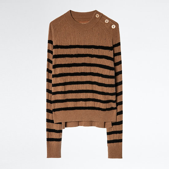 ZADIG + VOLTAIRE Stripes Cashmere Jumper
