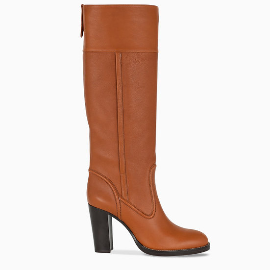 CHLOE Brown Knee High Boots