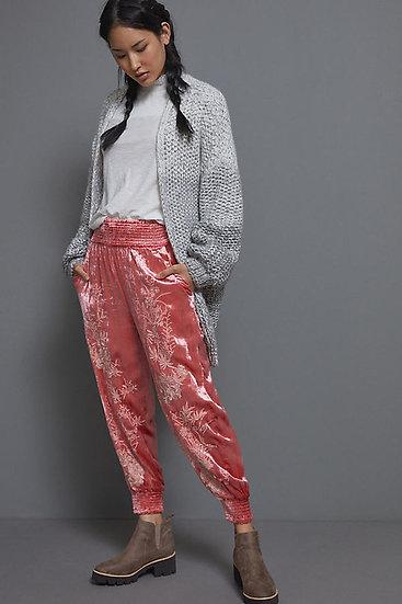 ANTHROPOGIE FR Velvet Jogging Trousers.