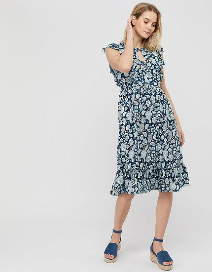 MONSOON Floral Midi Dress