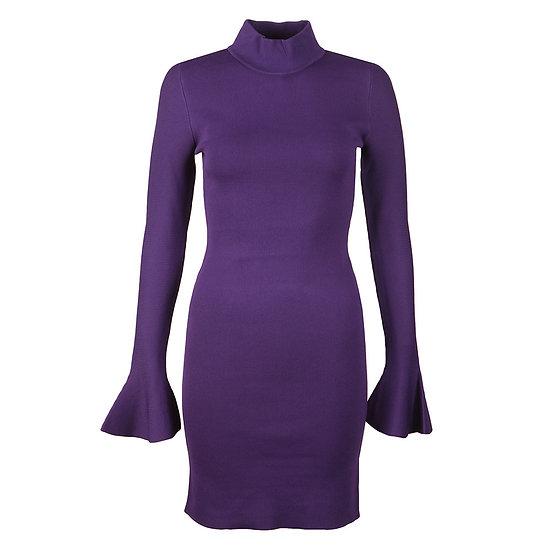 MICHAEL KORS Bell Sleeve Purple Dress