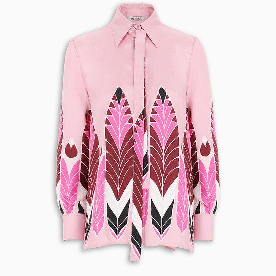 VALENTINO Printed Twill Shirt