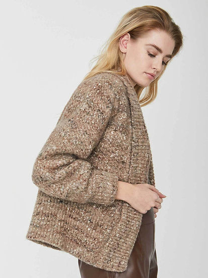 BROCHU WALKER The Lenox Wool and Silk Cardigan