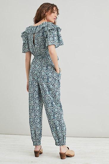 ANTHROPOLOGIE FR Ruffled Printed Jumpsuit
