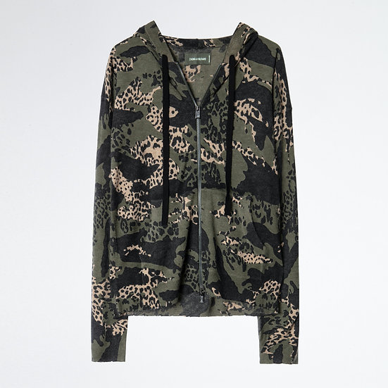 ZADIG & VOLTAIRE Cashmere Hooded Cardigan