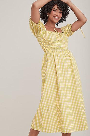 ANTHROPOLOGIE FR Midi Yellow Dress