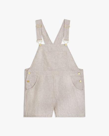 WE WORE WHAT Linen Short Overalls