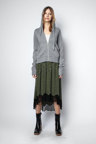 ZADIG & VOLTAIRE Hooded Cashmere Cardigan
